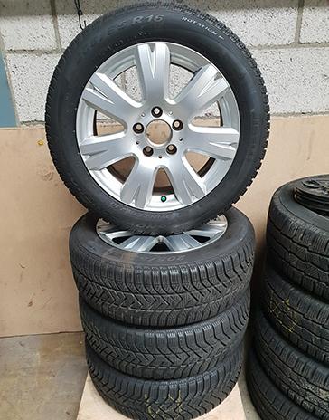 Mercedes set winterwielen